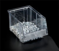 Clear Small Parts Bin 1950-1  Ext Dims: 500 x 186 x 182 mm  Pack size: 12